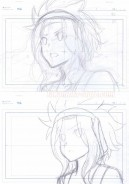 Fairy Tail set of 2 original sketches