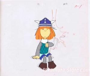 Vicky the Viking anime cel