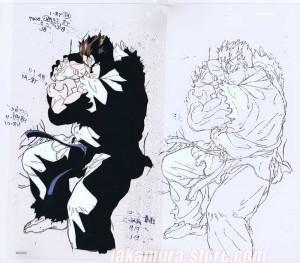 Street fighter II V anime cel