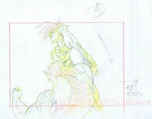 Dragon Ball Z set of original sketches