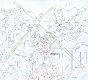 Dragon Ball Z - Trunk's story original sketch