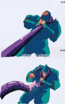 Wrath of the Ninja - Yotoden set of 2 anime cels