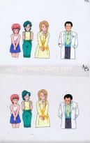 Kimengumi Highschool anime cel