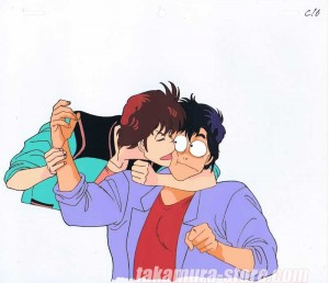 City Hunter anime cel