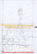 Dragon Ball set of 6 original sketches