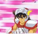 Saint Seiya anime cel