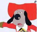 Woof-woof Three Musketeers anime cel
