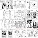 One piece episodes mix model sheets