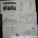 Examurai Model Sheets