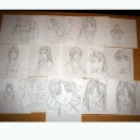 Copies sketches_love hina_130 pages