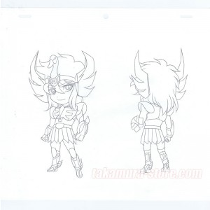 Saint Seiya Original sketch model sheet