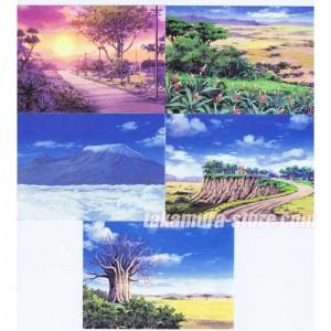Postcards set of 5 + stickers