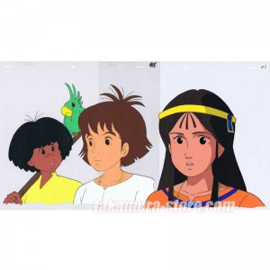 The Mysterious Cities of Gold anime cel