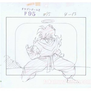 Dragon Ball Z original sketch layout