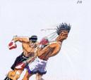 Hajime no Ippo OVERSIZED set of 2 anime cels