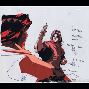 Street fighter II V anime cel